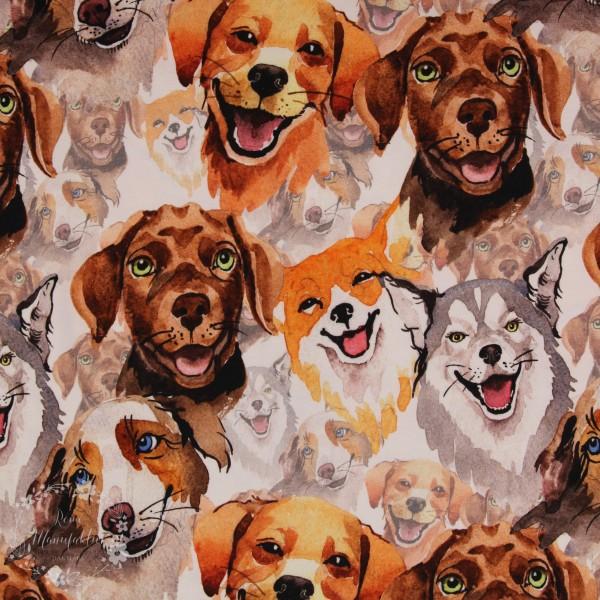 "Bomuldsjersey ""Hunde"""