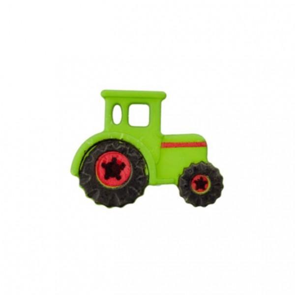 23 mm Øsken-Knap Traktor grøn