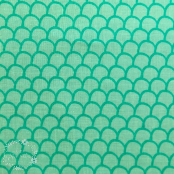 "Bomuld ""GO fish"" Mermaid in Green"