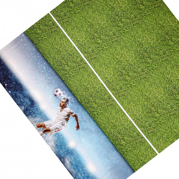 "65 cm Jersey-Panel ""Fodboldspiller"""