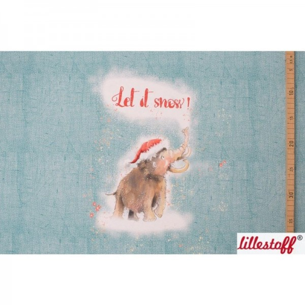"BIO-French Terry Panel ""Let it snow"" by Tante Gisi"