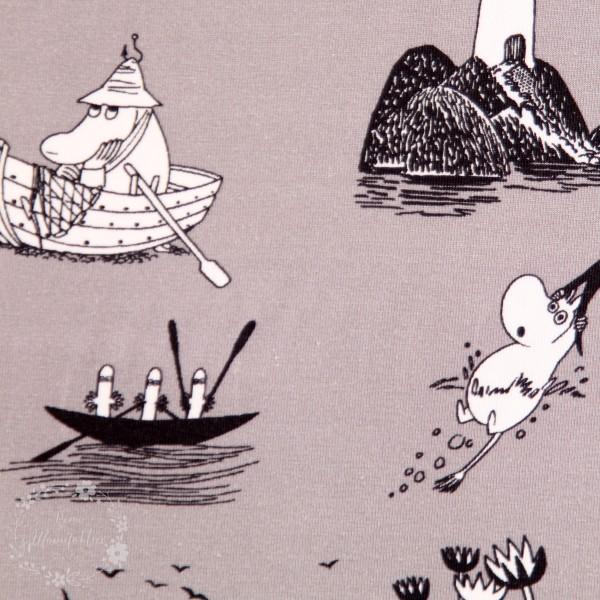 """Moomin-Bomuldsjersey """"Fiskeri"""""""