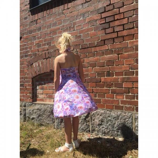 """Snitmønster til børn """"Halterneck dress"""" str 80 - 164"""