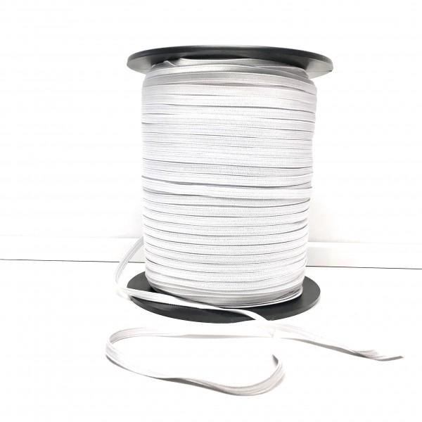 Sport elastic hvid 6mm