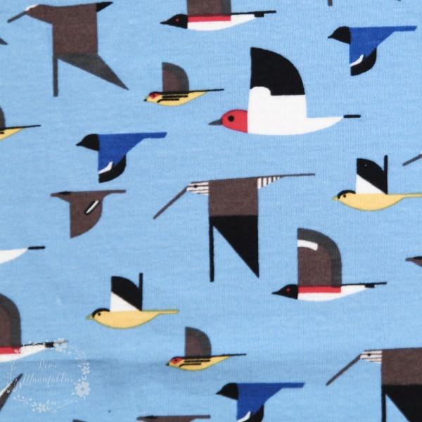 "BIO-Interlock-Bomuldsjersey ""Charley Harper Maritime Knits"" (kch30) fra Birch Fabrics"