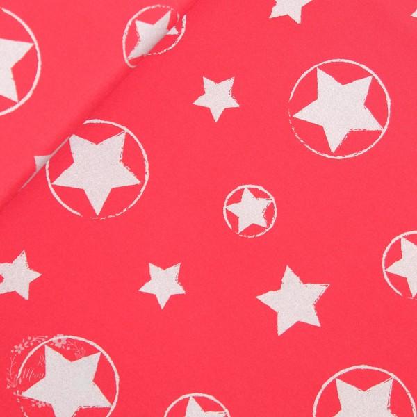 Nano-Softshell rød med stjerner