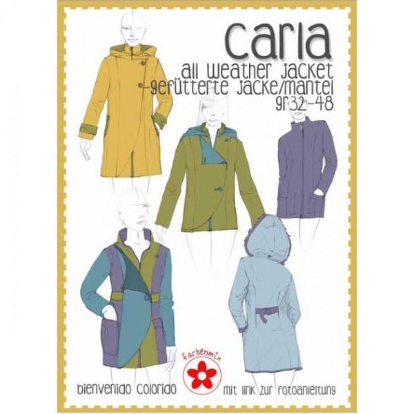 "Snitmønster bienvenido colorido jakke ""Carla"" str 32 - 48"