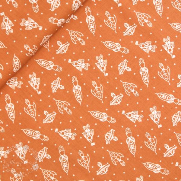 """BIO-Bomuld """"Robotic"""" 2 fra Birch Fabrics"""