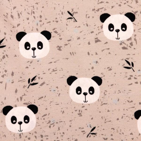 "Bomuldsjersey ""Avalana"" 19-210 - Panda"