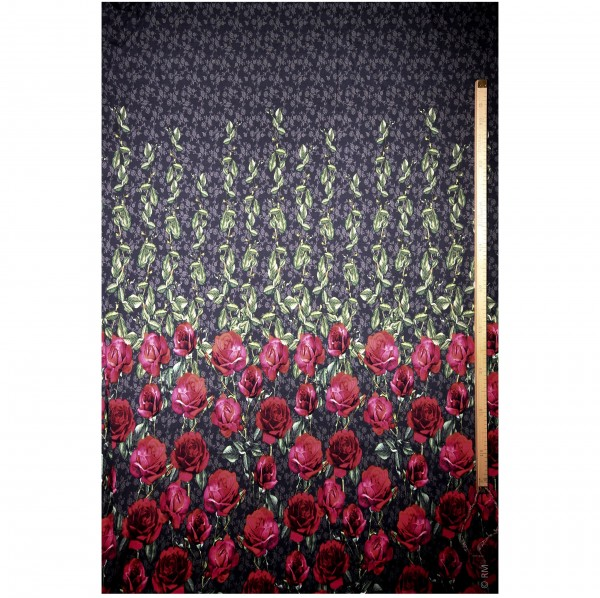 "Jersey-Panel ""Roses"" 200 cm"