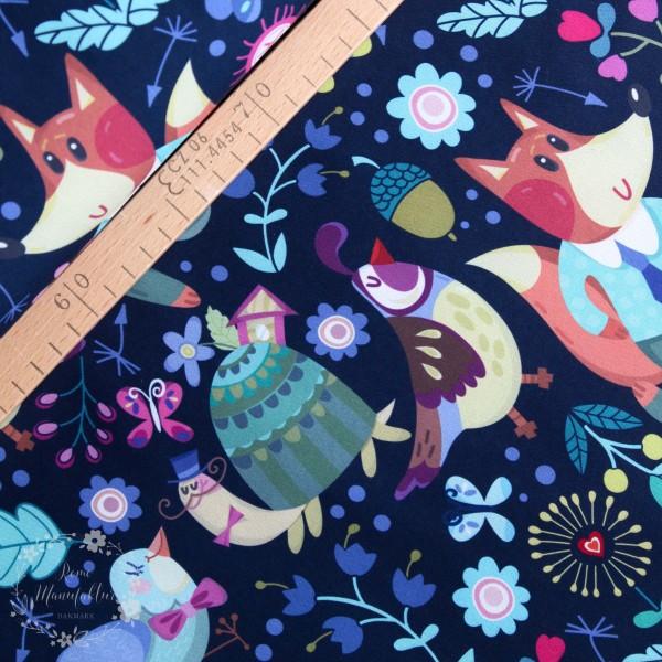 Poly Softshell Digi Fox mørkeblå