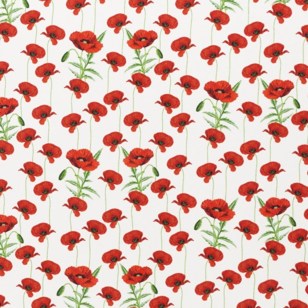 "Bomuldsjersey ""Mandy"" Poppies"
