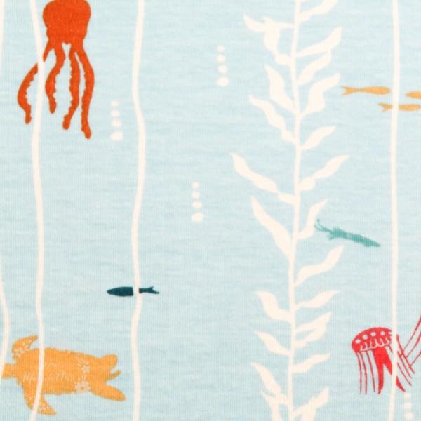 "BIO-Interlock-Bomuldsjersey ""Beyond-the-sea"" fra Birch Fabrics"
