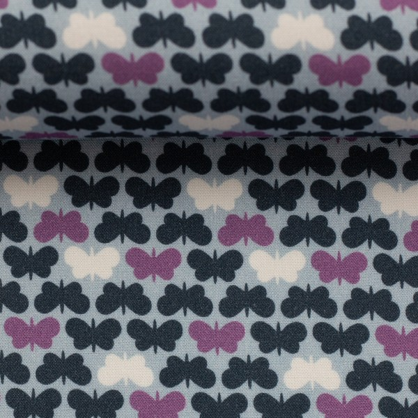 "Fastvævet viscose ""Butterflies"" by lycklig design"