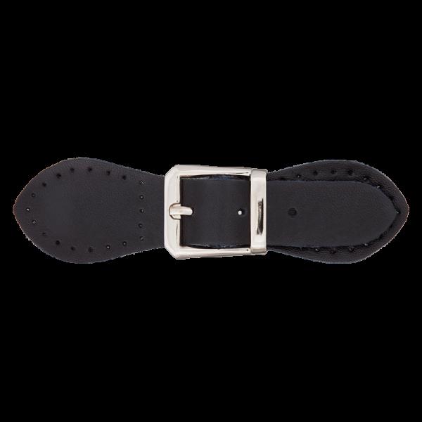 Læder-Lukning (11 cm) sort