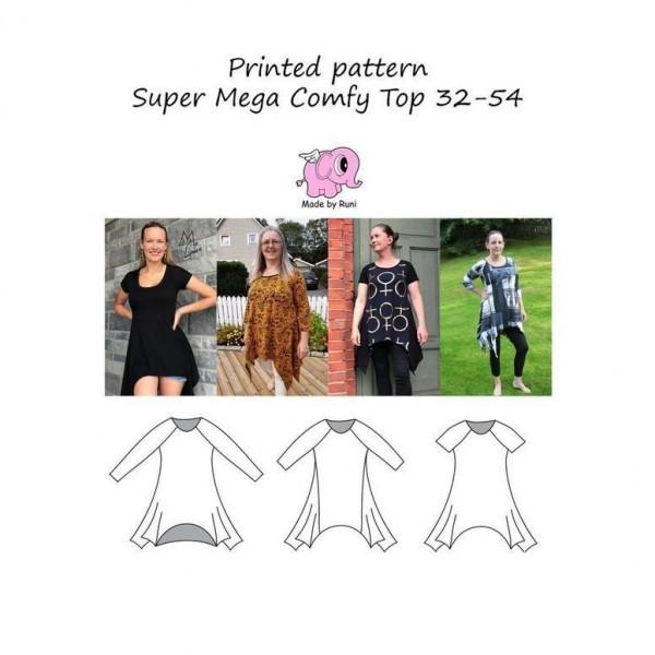 """Snitmønster til kvinder """"Super Mega Comfy Top""""..."""