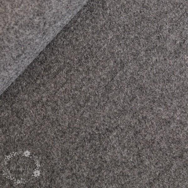 Blanding af viscose og uld grå