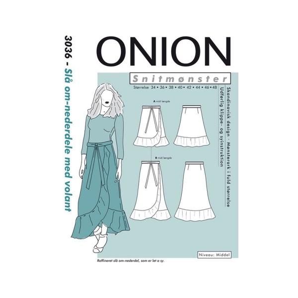 """Snitmønster Onion 3036 """"Slå om-nederdele med..."""