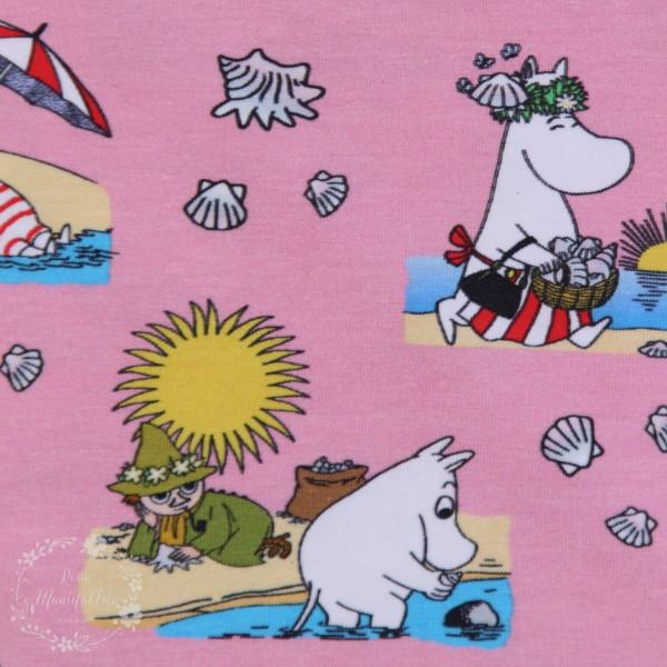 """Moomin-Bomuldsjersey """"På stranden"""""""