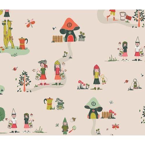 "Bomuldsjersey ""The Meadow Fellows"" fra Art Gallery Fabrics"