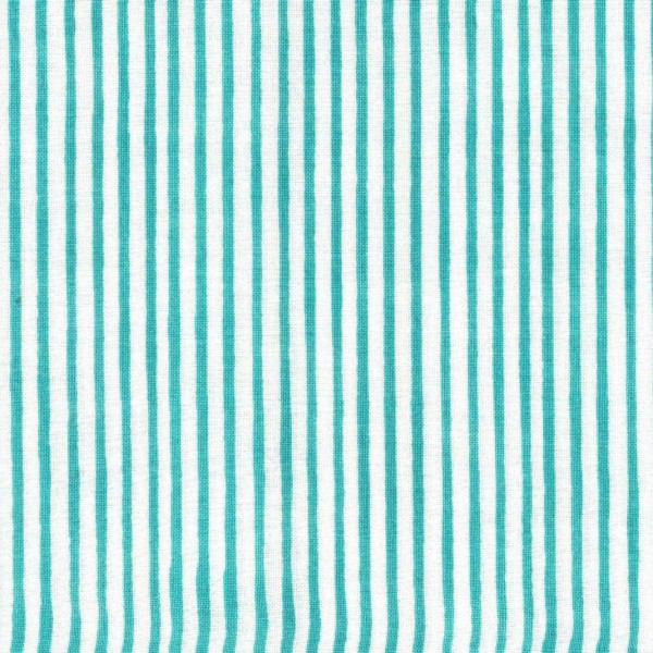 "Bomuld ""Lazy Stripe"" teal by Loralie Harris"