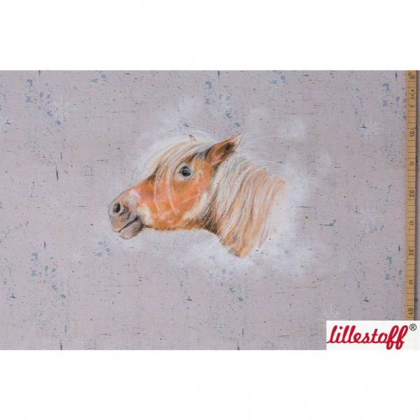 """BIO-French Terry Panel """"Winterpony"""" by Tante Gisi"""