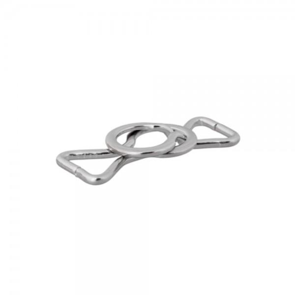Bæltespænde sølv 25 mm