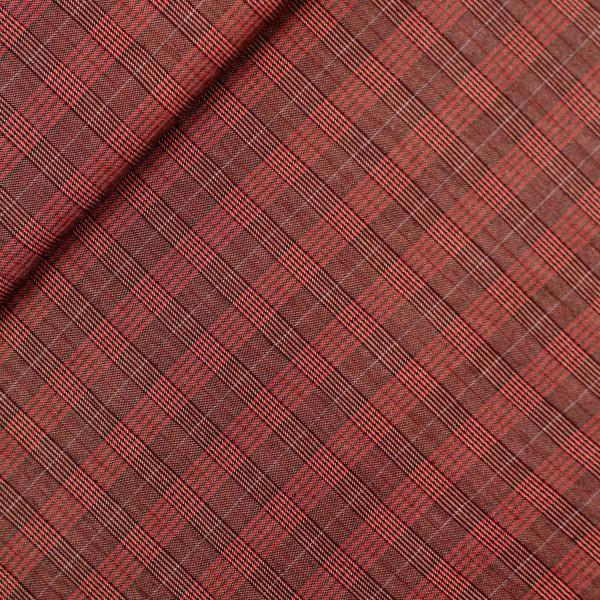 Uldstof ternet rødbrun
