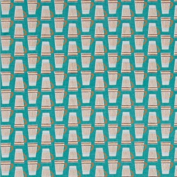 "Bomuld ""Vienna"" Bomuld ""Vienna"" Cups teal"