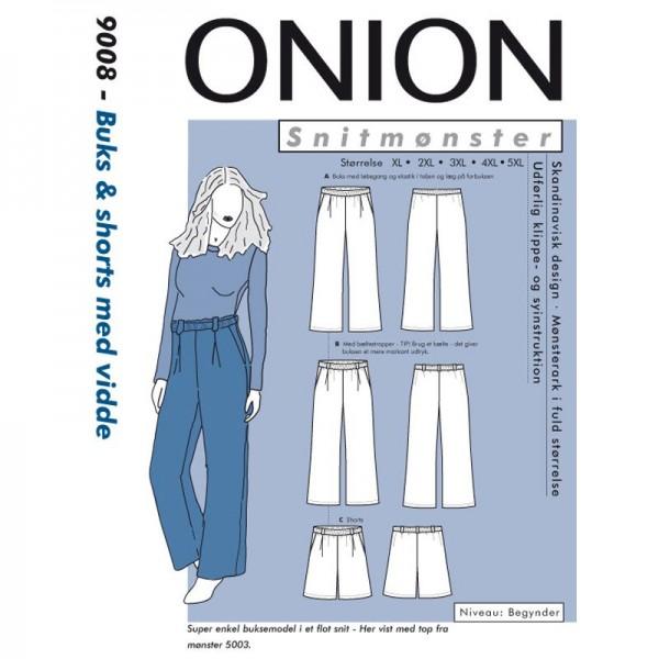 """Snitmønster Onion 9008 """"Buks & shorts med..."""