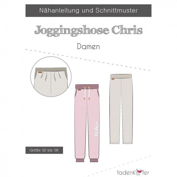 """Snitmønster Joggingbukser """"Chris"""" Dame str 32 - 58"""