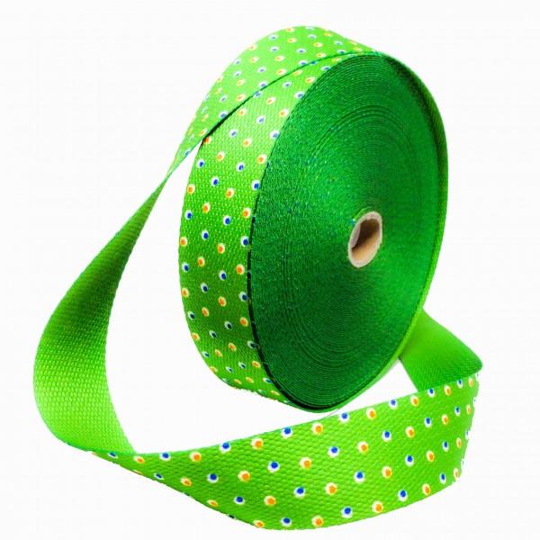 Gjordbånd grøn med lille prikker