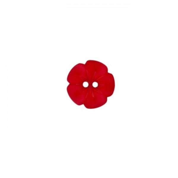 "2-hul-polyester-knap kollektion ""Lille blomster"" (11mm)"