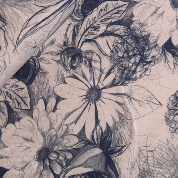 """Isoli """"Basel"""" Blomster grå"""