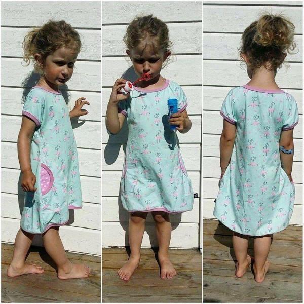 """Snitmønster til børn """"Every day dress"""" str 80 - 164"""