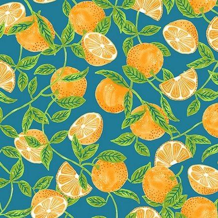 "Bomuld ""Citrus Garden TE2"" by RJR Fabrics"