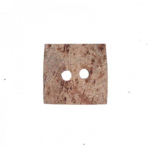 """2-hul-træ-knap """"Firkant"""" 35 x 35 mm"""