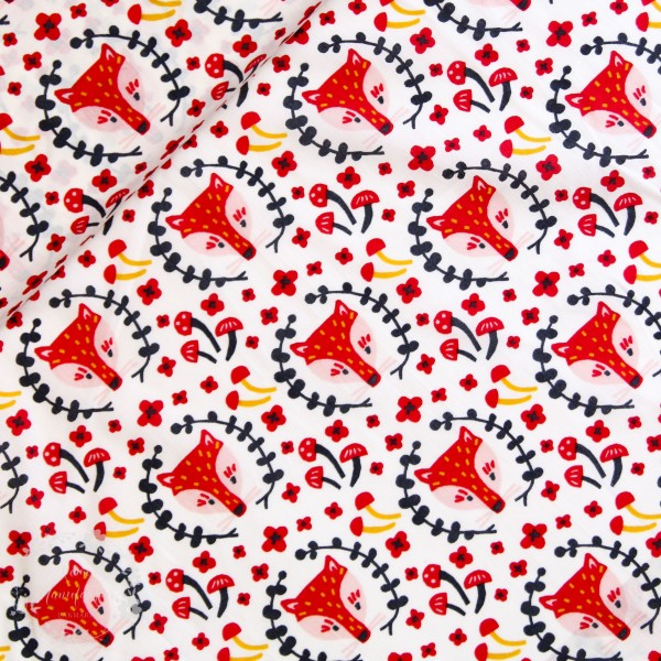 "BIO-Bomuld ""Folkland"" kb-03-cre fra Birch Fabrics"
