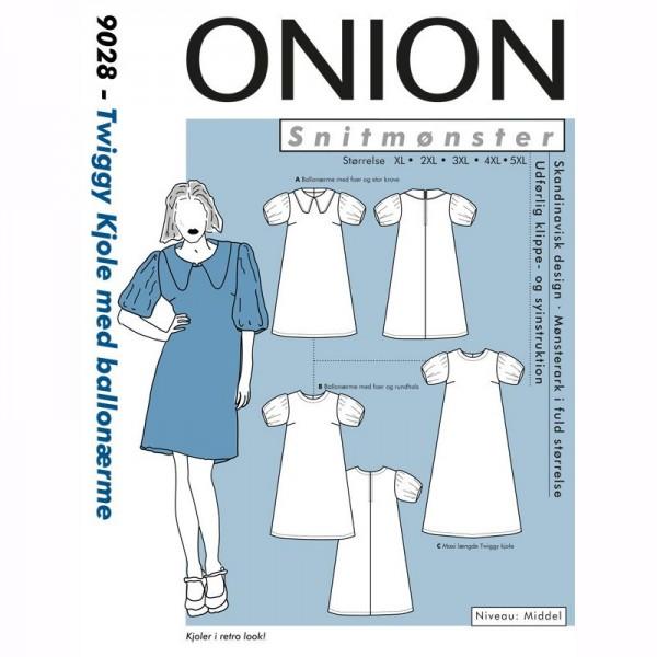 "Snitmønster Onion 9028 ""Twiggy Kjole med..."