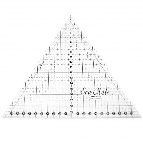 Lineal trekant 20 x 20 cm