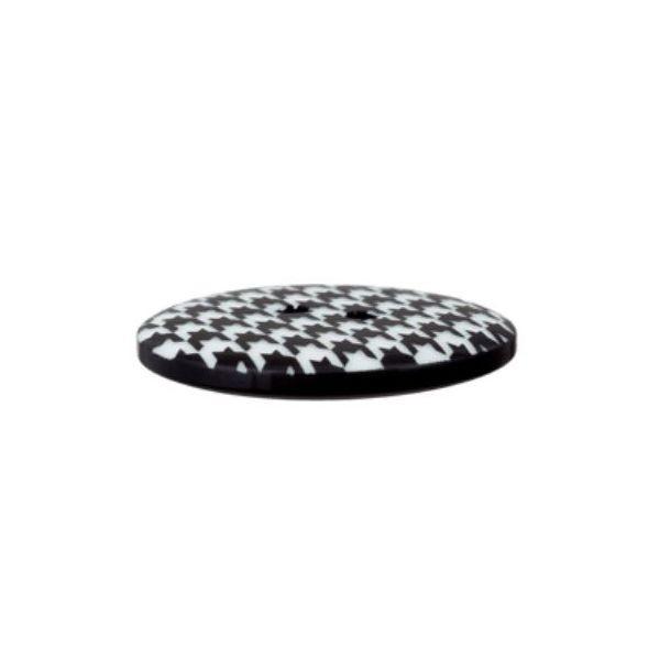 """2-hul-polyester-knap """"Hahnentritt"""" (23mm)"""