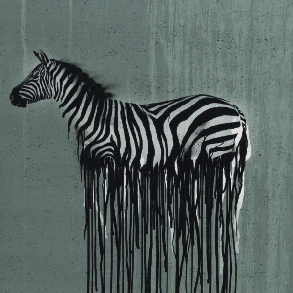 "65 cm Bomuldsjersey-Panel ""Wild Zebra"" by..."