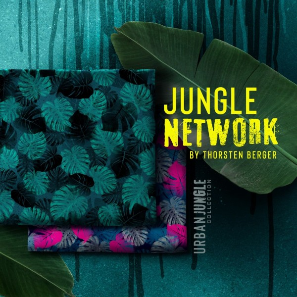 "Fastvævet bomuld kollektion ""Jungle Network"" by Thorsten Berger"