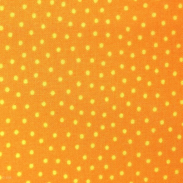 """Bomuld """"Junge Linie"""" orange med prikker"""