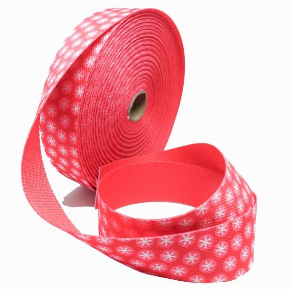 Gjordbånd lyserød med mønster