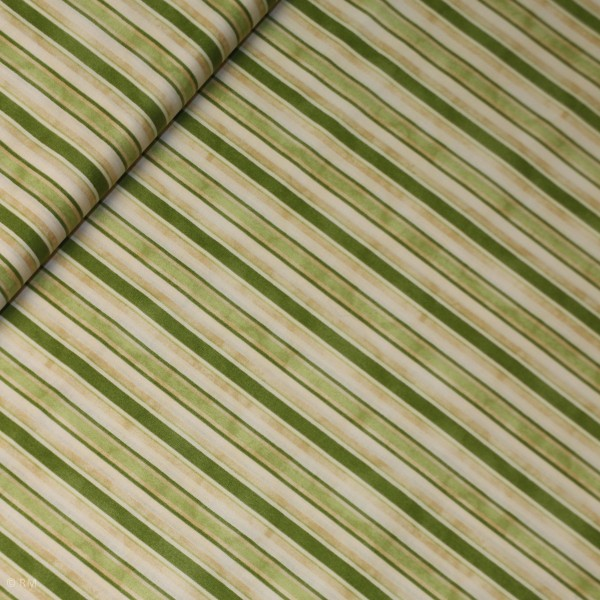 "Bomuld ""From the Farm"" Awning Stripe Green"