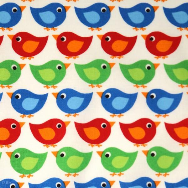 """Bomuld """"Junge Linie"""" med fugle"""