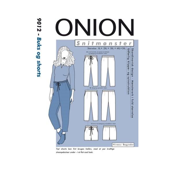 """Snitmønster Onion 9012 """"Buks & shorts"""" str XL -..."""