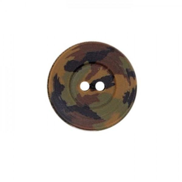 """2-huls-knap """"Camouflage"""" Ø 23 mm"""