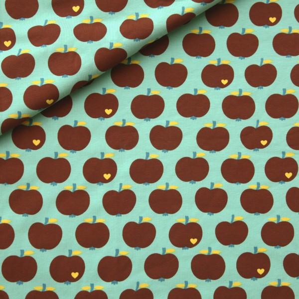 """Bomuldsjersey kollektion """"æbler"""" by Graziela"""